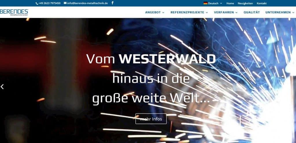 Homepage Berendes Metalltechnik