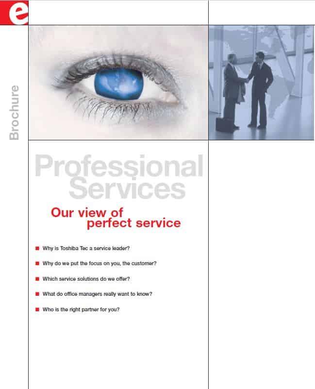 Service Imagebroschüre Toshiba Tec Titelseite