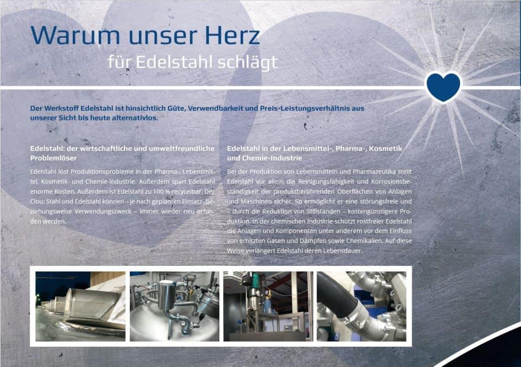 Imagebroschüre von Berendes Metalltechnik Edelstahl
