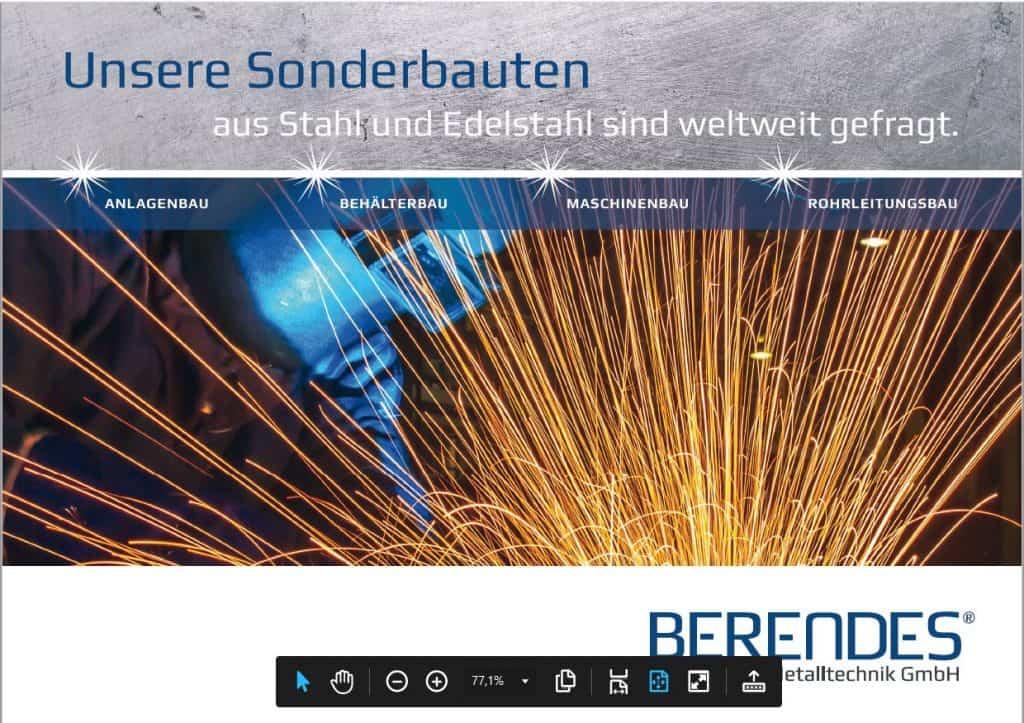 Imagebroschüre von Berendes Titel
