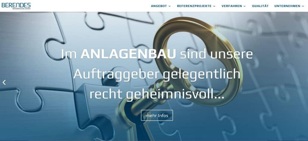 Berendes Website Maschinenbau