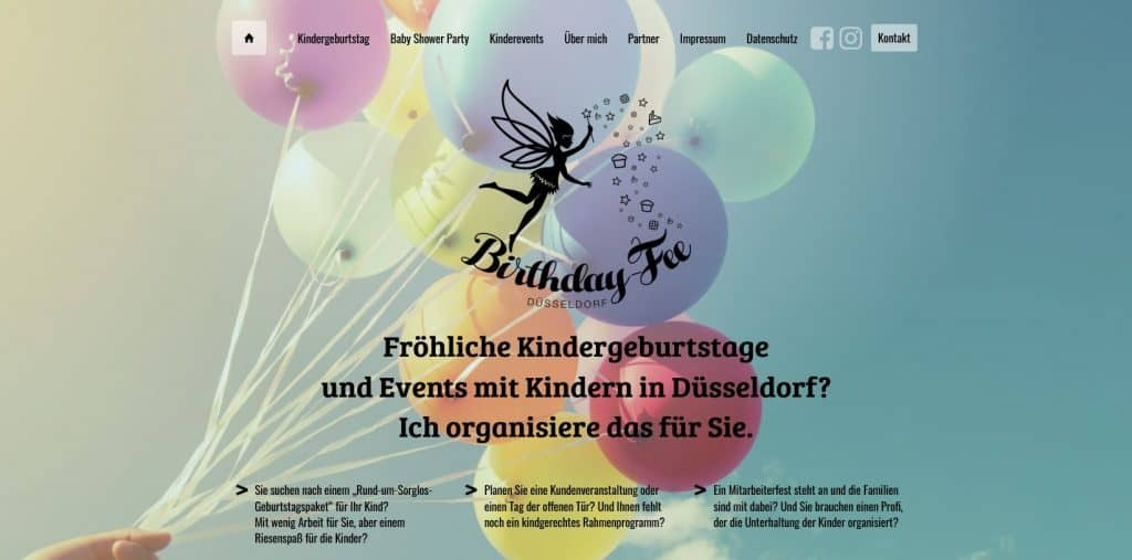 SEO-Projekt Website birthday-fee