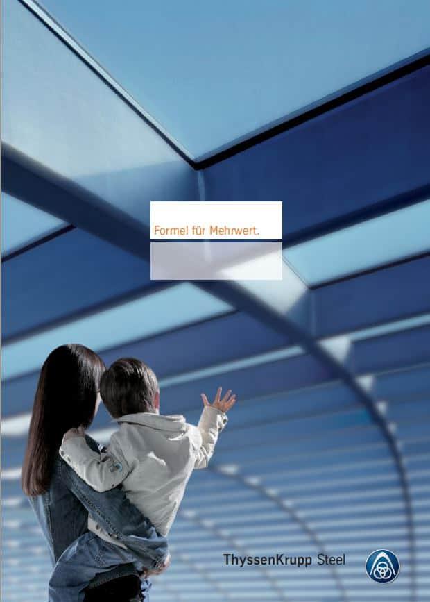 Titelseite Immagebroschüre ThyssenKrupp Steel