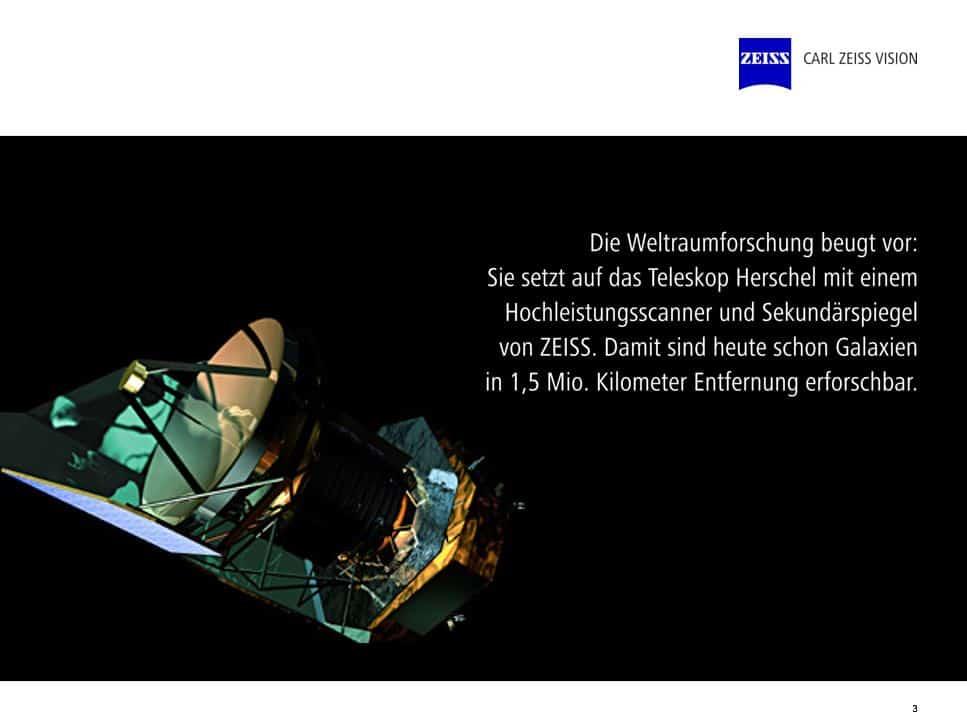 Zeiss Unternehmensspräsentation Teleskop Herschel