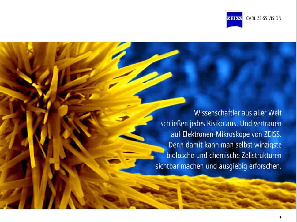 Zeiss Unternehmenspräsentation Referenz Wissenschaft