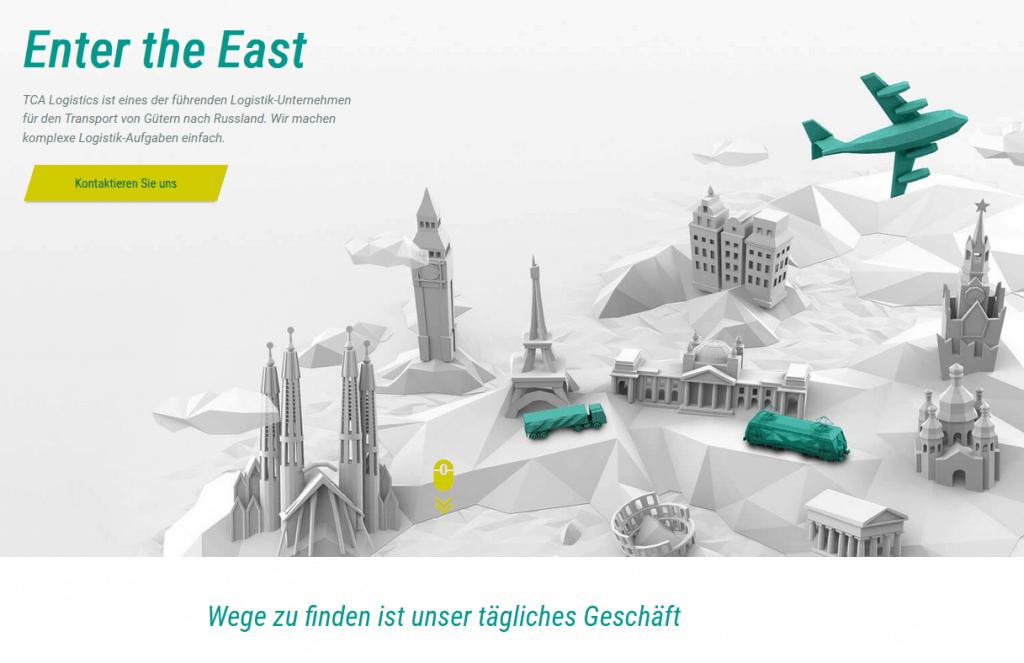 Webseite von TCA Logistics Startseite