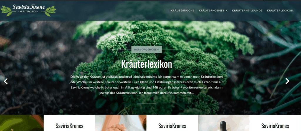 Homepage Saviriakrone Kraüterkunde