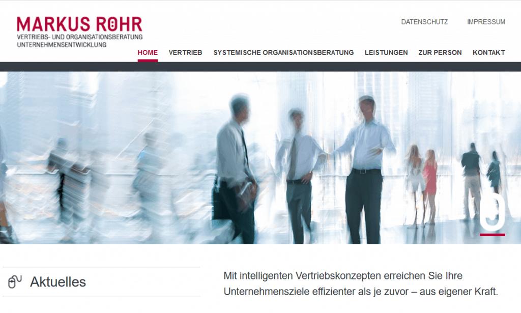 Website Markus Röhr Startseite