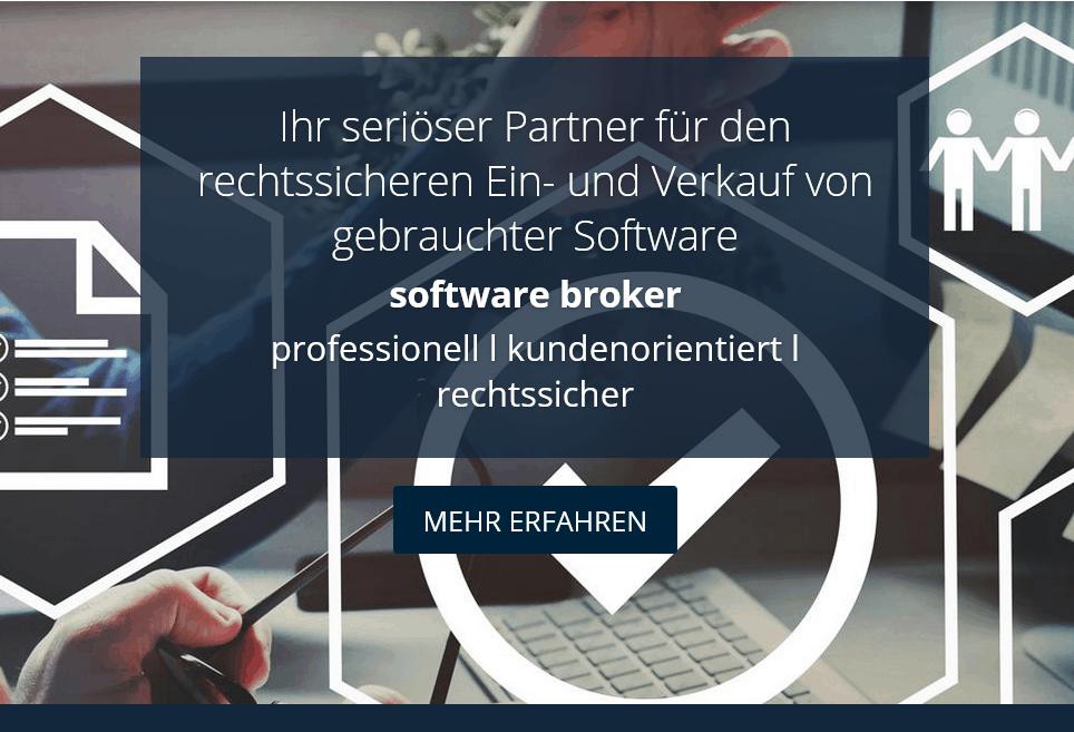 Website Software-Broker Startseite