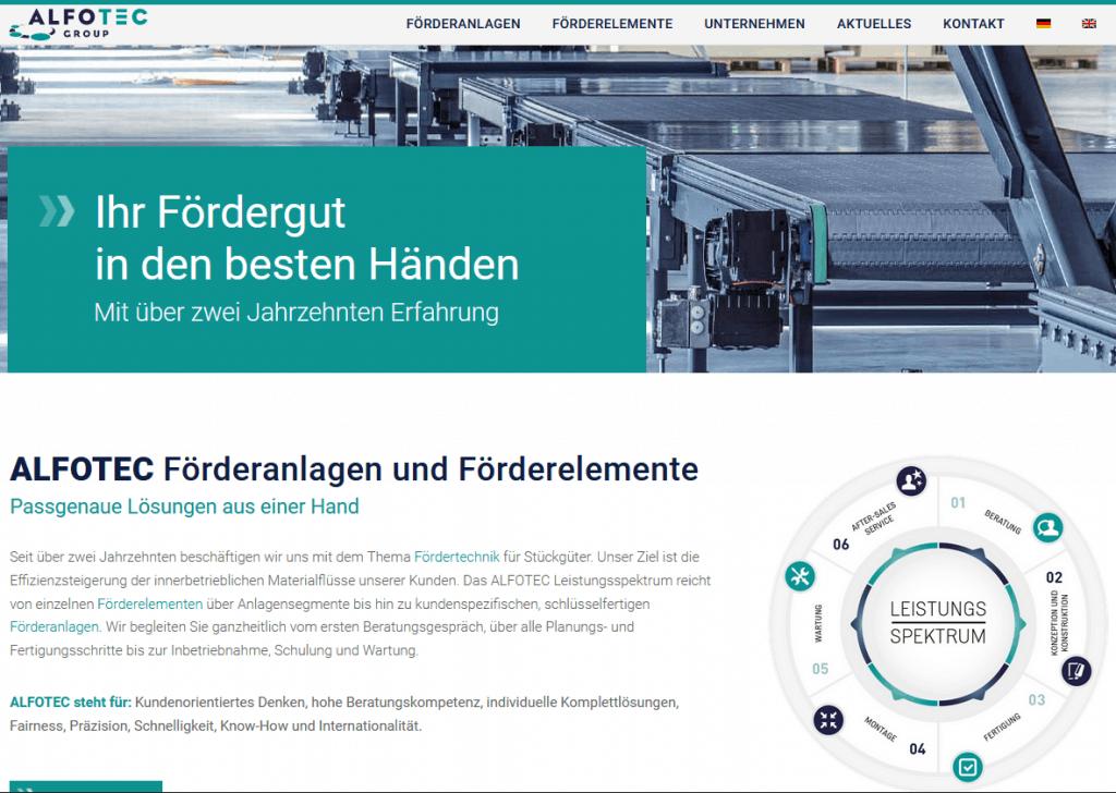 Website von ALFOTEC Startseite