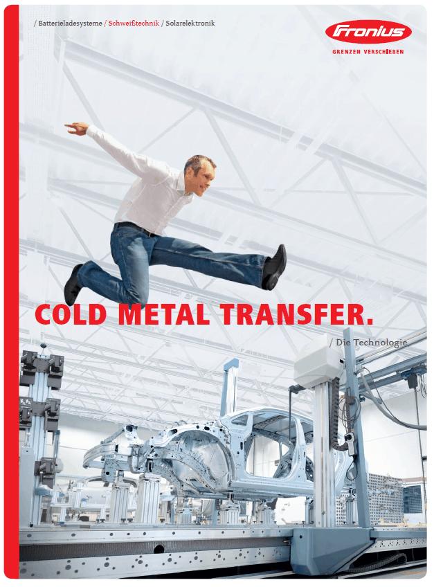 Bereichsbroschüre von Fronius Cold Metal Transfer Titelseite