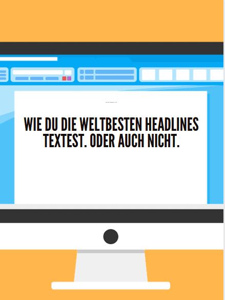 Mein Blog Beitrag Headlines Beitragsbild Monitor mit Text