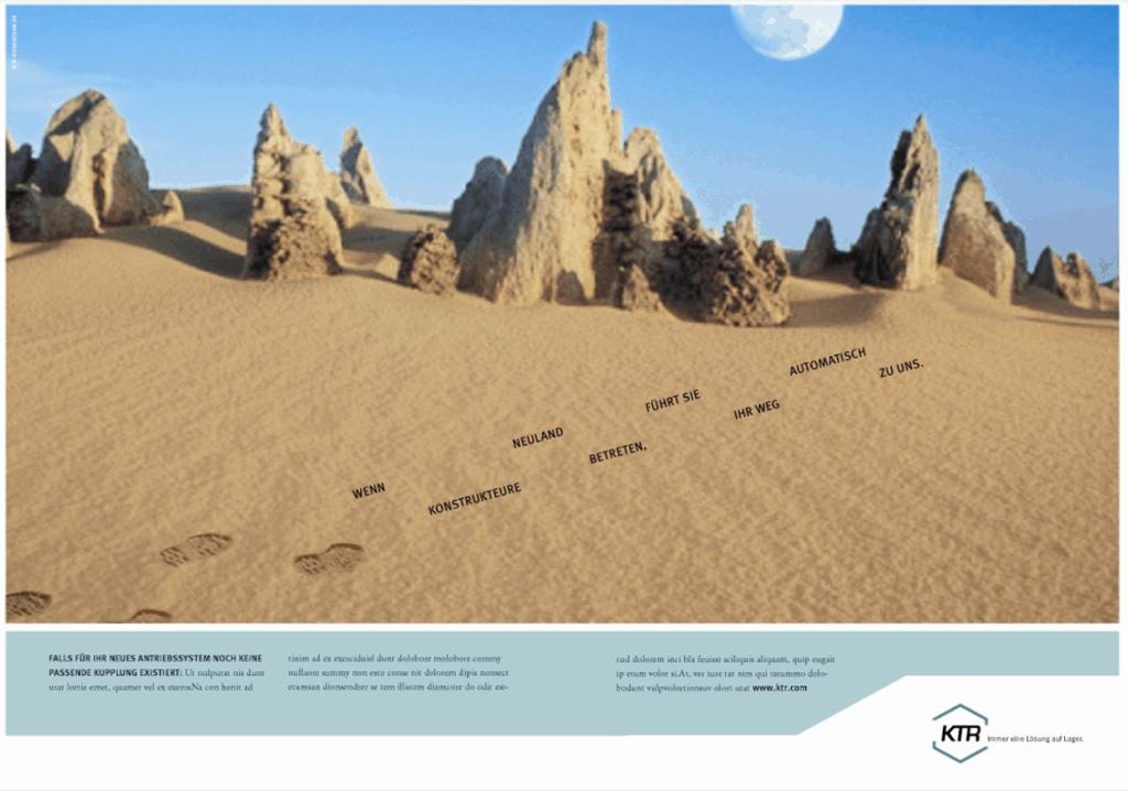 Imageanzeige von KTR Rheine Motiv Spuren im Sand