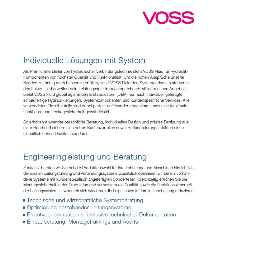 Imagebroschüre Voss Fluid Intro