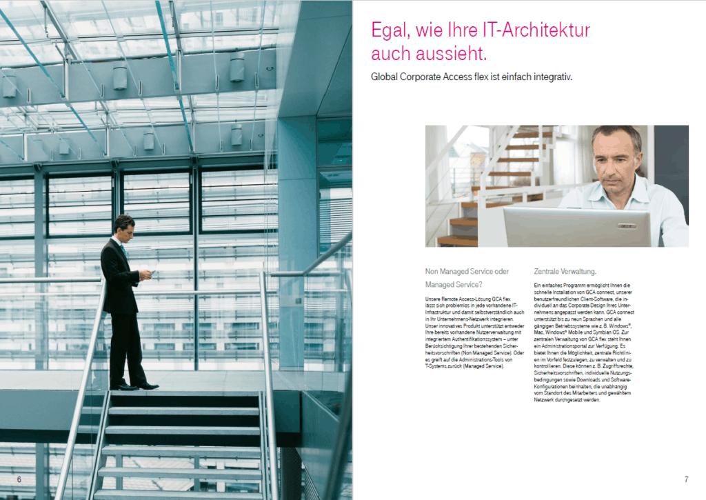 Produktbroschüre Telekom Global Corporate Access 1. Doppelseite